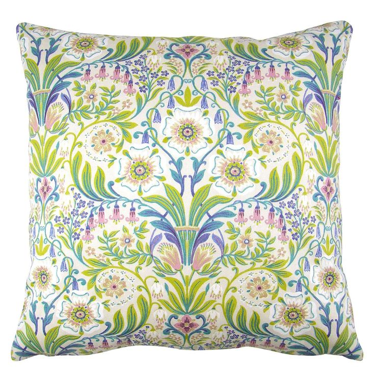 Talia Green Cushion Cover | Dunelm