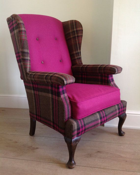 Restored Vintage Parker Knoll Wingback Chair - etsy  Do the sides in back and do the back and bottom cushions in comic book print