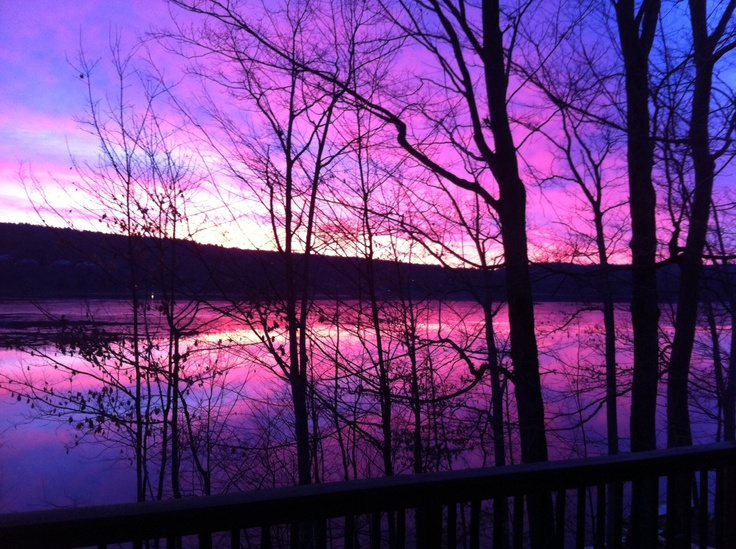 Lake Wallenpaupack Winter Sunrise, Pocono Mountains.