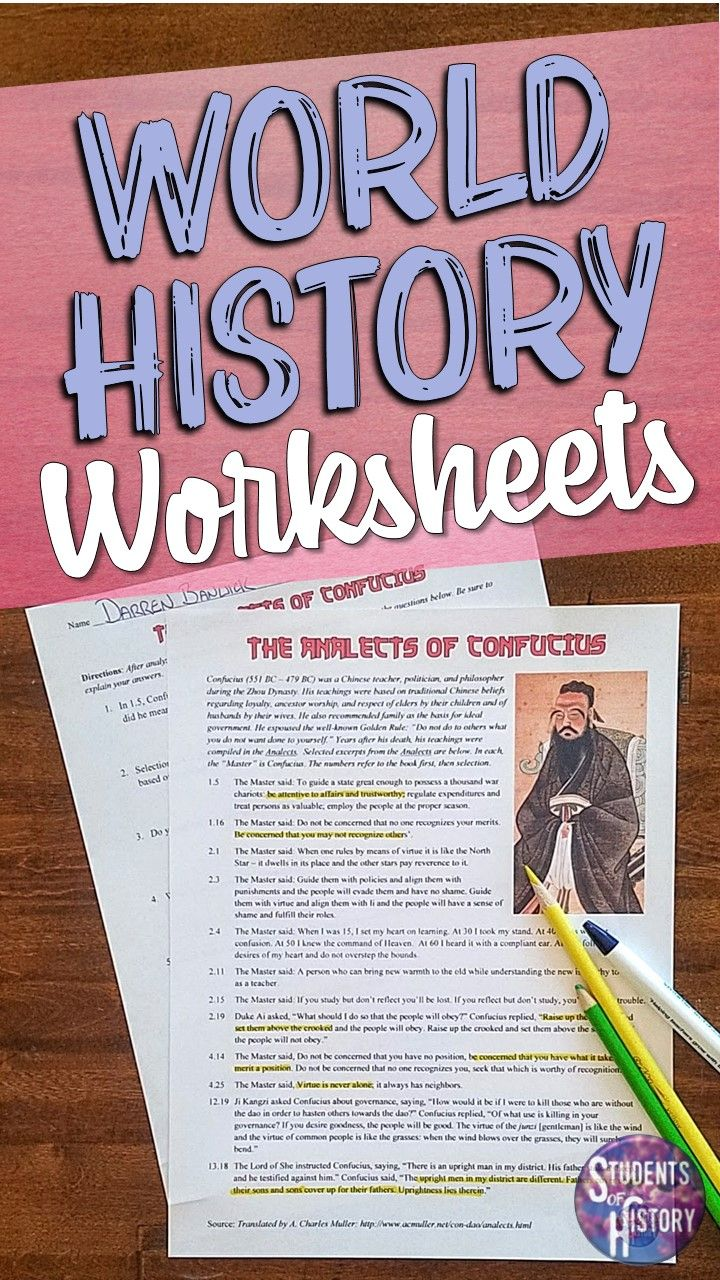 Worksheets for the World History Classroom   History worksheets [ 1280 x 720 Pixel ]