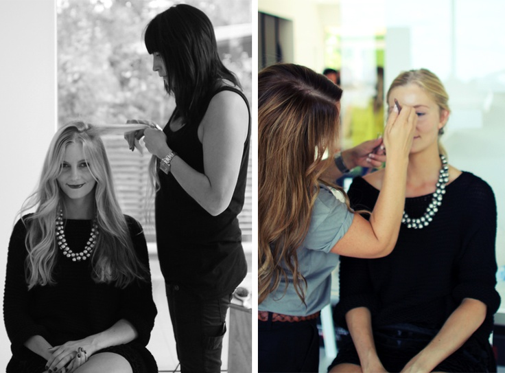 Prep and fix before photoshoot! Yves Rocher - AutumnLooks 2012.