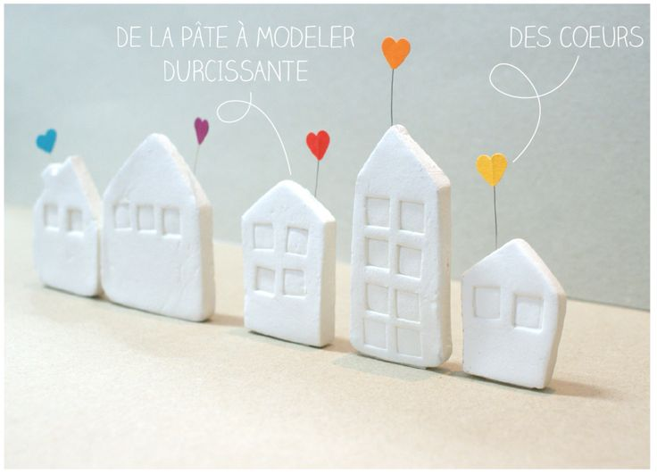 Inspiration: clay houses. Use as gift tags.
