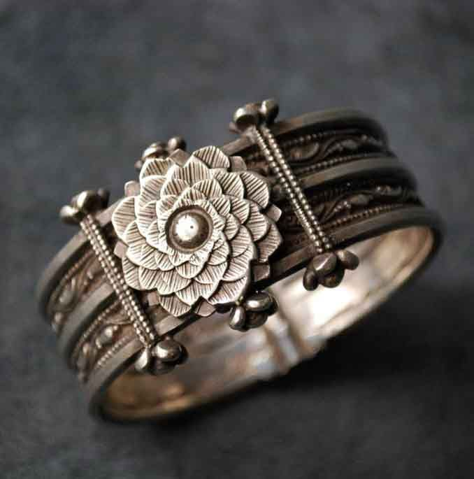 ➳➳➳☮ American Hippie Bohemian Boho Style ~ Jewelry .. Silver Bracelet