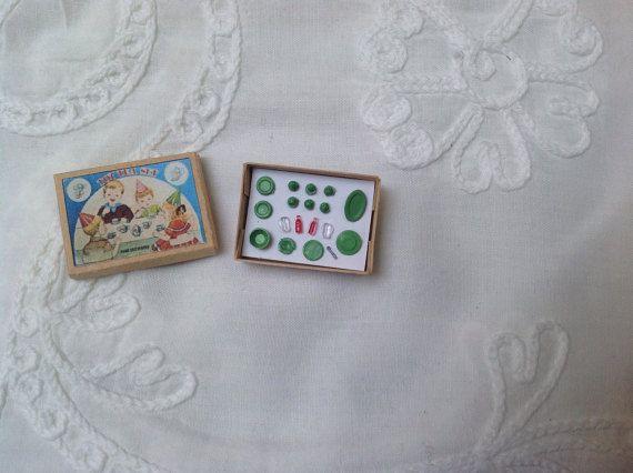 Tiny tea set for your dollhouse doll dollhouse by karmolijntje