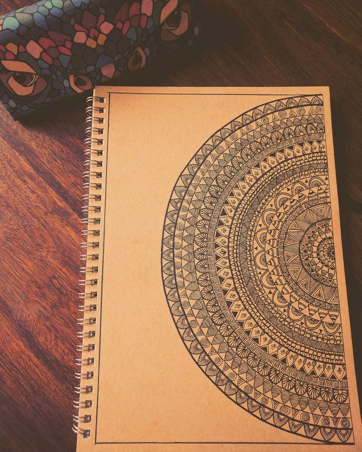 Mandala design on note book
