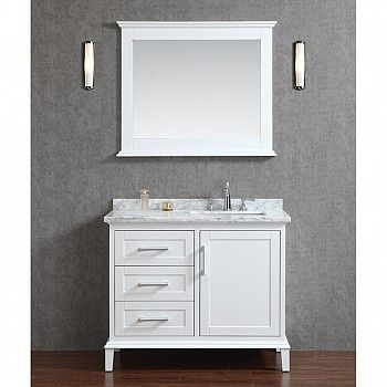 "Ariel by Seacliff Nantucket 42"" Single-Sink Bathroom Vanity Set in Alpine White - Ariel Bath"
