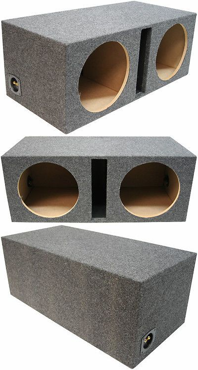 Car Subwoofers: Car Audio Dual 15 Ported Subwoofer Box Bass Speaker Vented Sub Box Enclosure BUY IT NOW ONLY: $77.95