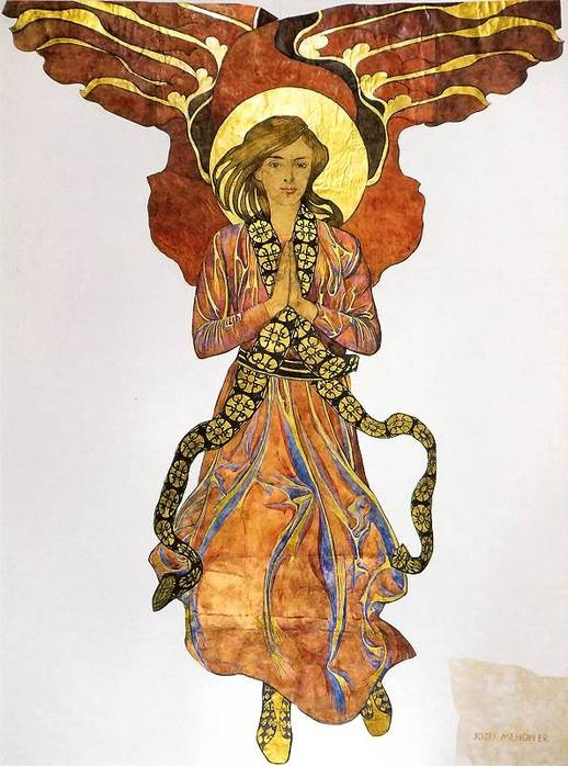 Angel, c.1903   by Józef Mehoffer