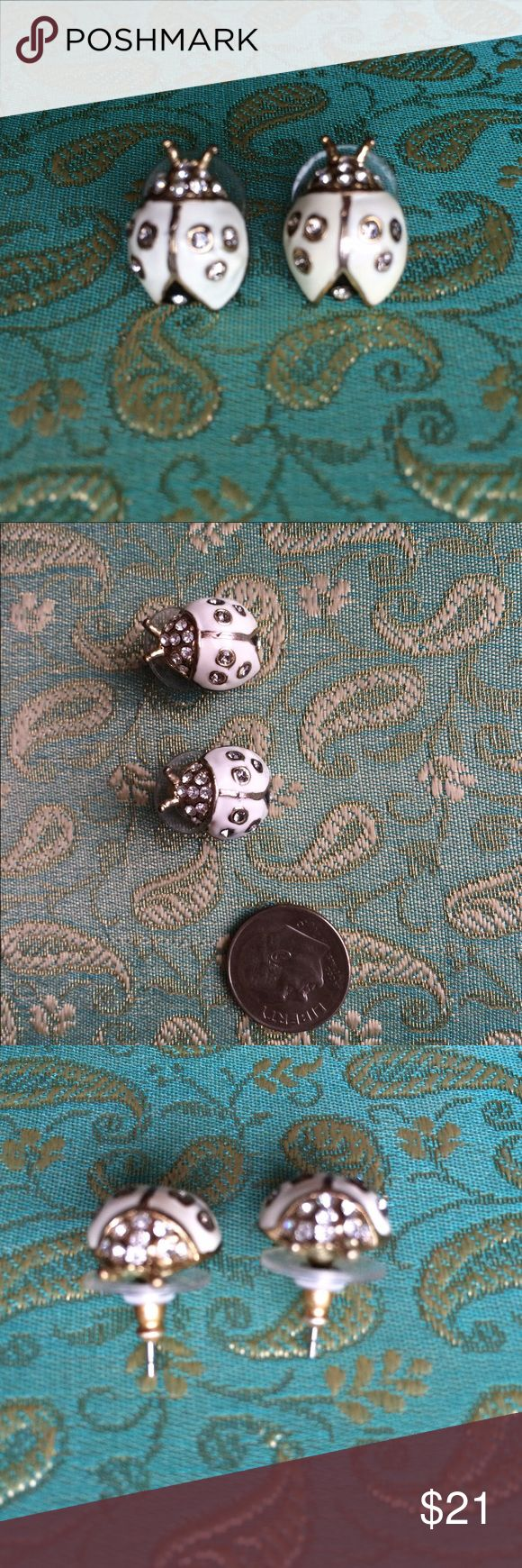 🐞Check Em Out!🐞 Talbots White Ladybug Earrings! Love these Talbots White & Gold Ladybugs! Eye cathchingly cute! A great deal for some great pieces ❤️🐞😊👍🏼👀😻 Talbots Jewelry Earrings