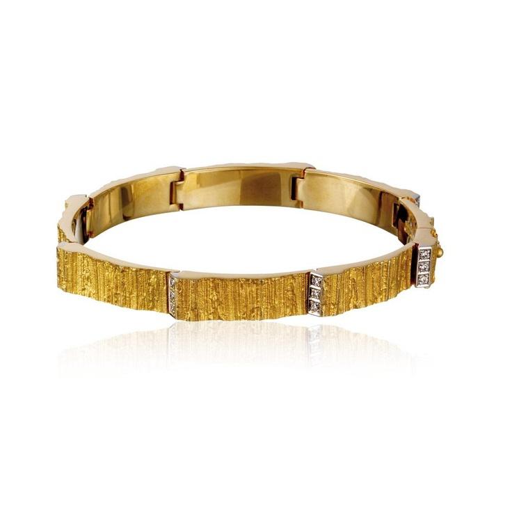 CIRIA  Design Björn Weckström / Gold Bracelet / Lapponia Jewelry / Handmade in Helsinki