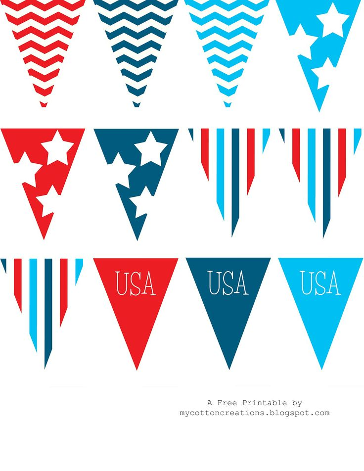 Free 4th of July printable banner