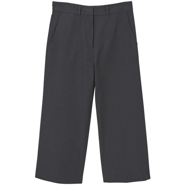 Cotton Crop Trousers (2.190 RUB) ❤ liked on Polyvore featuring pants, capris, cropped capri pants, cropped trousers, cropped pants, mango trousers and mango pants