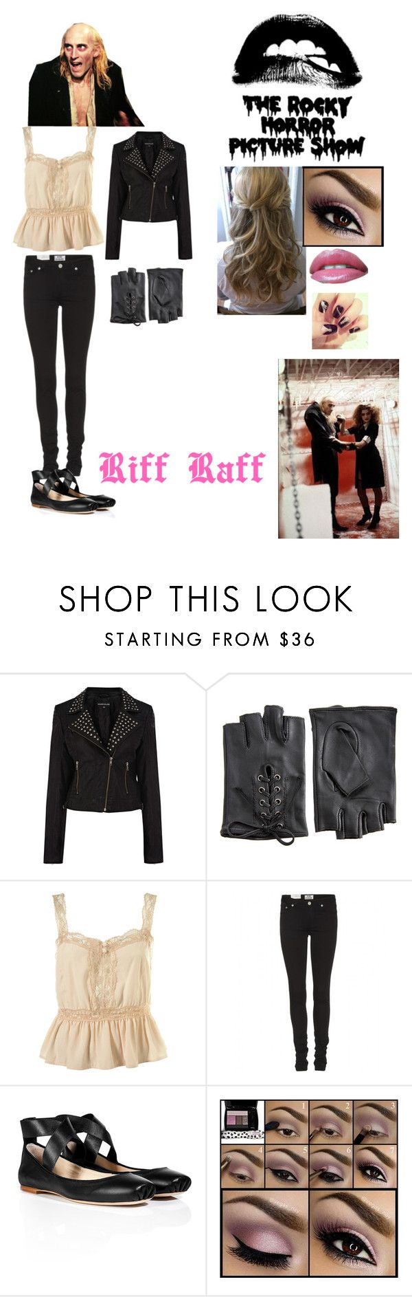 """Modern Day Rocky Horror Picture Show! Today's Featured Character is Riff Raff!"" by victorianprincess94 ❤ liked on Polyvore featuring Warehouse, ASOS, Acne Studios, Chloé, Lancôme, Chanel and modern"