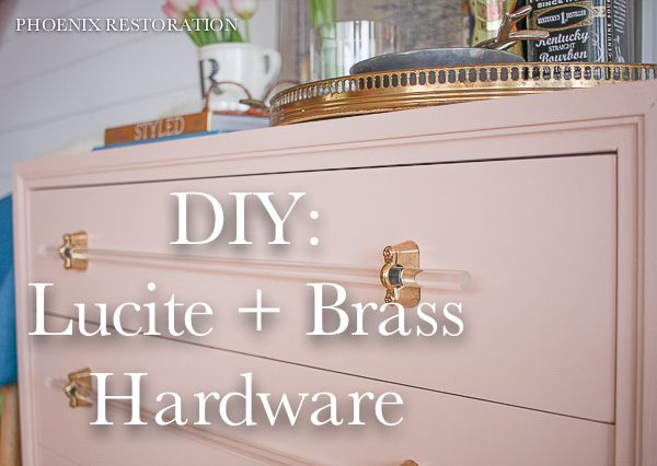 "Hi Friends! I'm here to share a fun project that I'm referring to as a ""mini-bar."" But really, it's just a three drawer dresser that I think is perfect for use as a mi…"