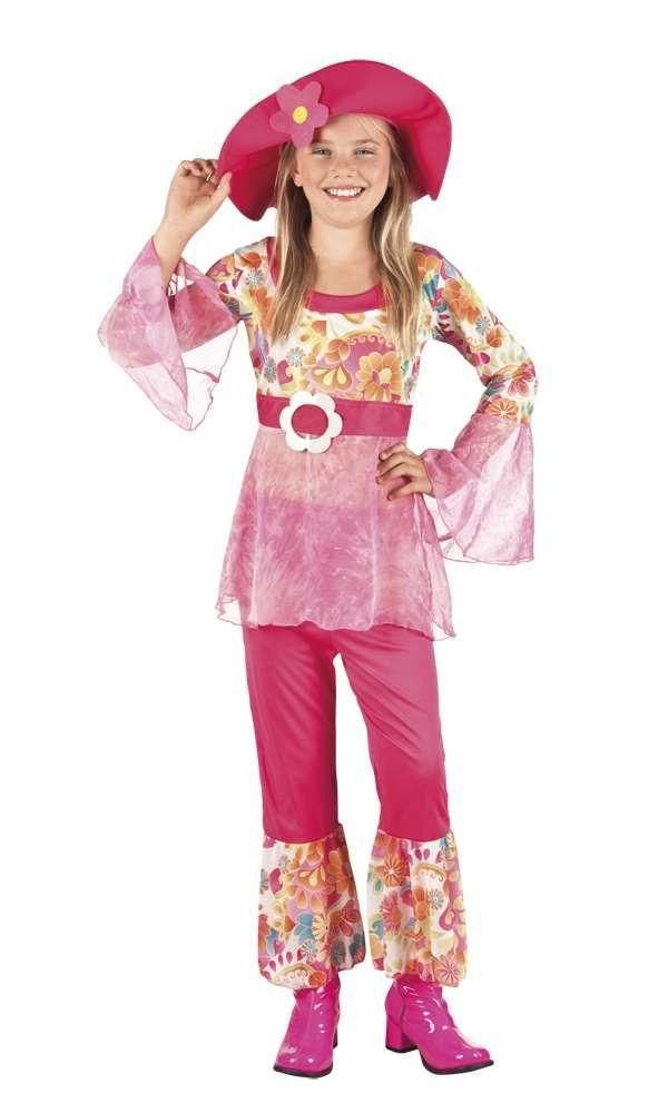 Kostuum hippie meisje (kinderen)