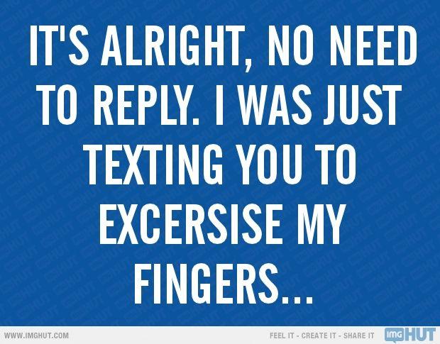 no response text dating