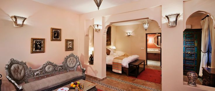 Luxury Holiday Ideas Morocco Kasbah Tamadot Cream & Silver Suite