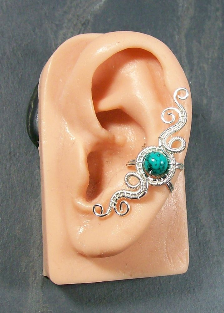 """""""Hands of Time"""" Woven Gemstone Ear Cuff   JewelryLessons.com"""