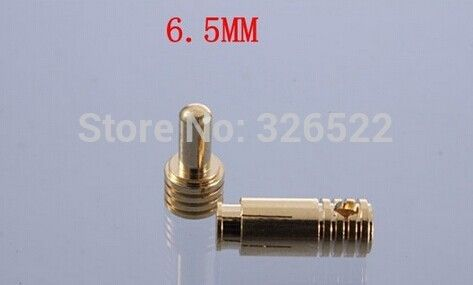 Free shipping 10 pairs/ lot High Current 6.5mm gold Bullet Banana Connector plug for RC battery motor and ESC #Affiliate