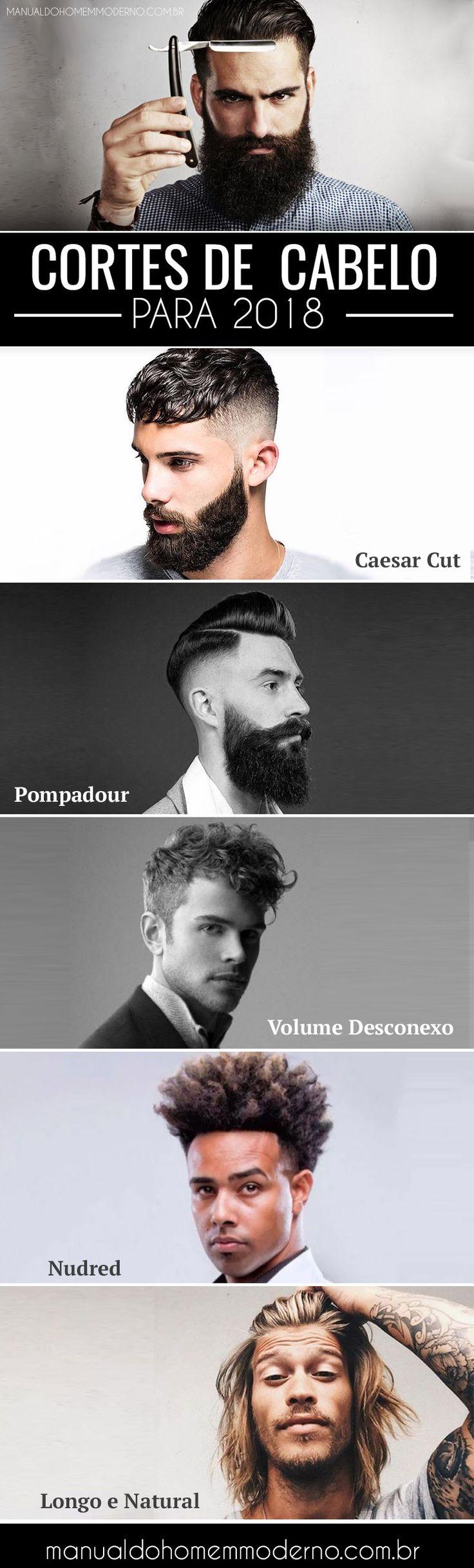 Cortes de cabelo masculino em alta para 2018.
