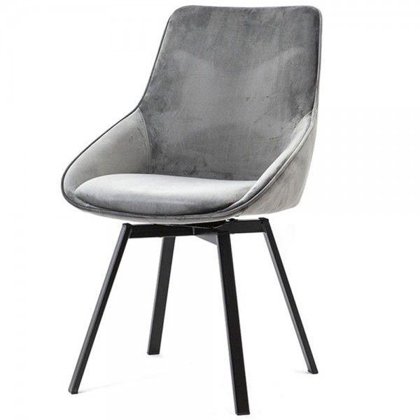 By Boo Stuhl Esszimmer Drehbar Beau Samt Grau Design Stuhle