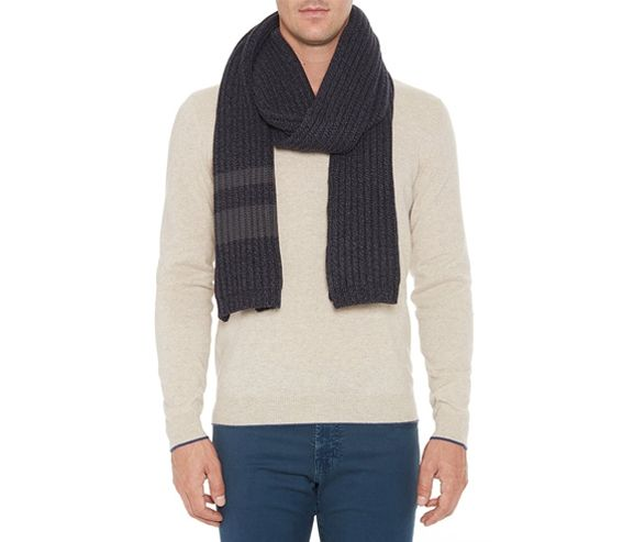 AG JEANS - Merino rib knit scarf. Made in the USA.