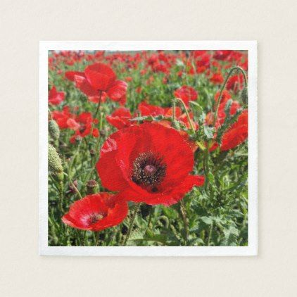 Flanders Poppy Napkins - kitchen gifts diy ideas decor special unique individual customized