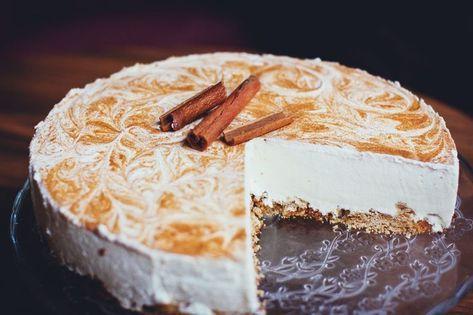 Receta de tarta de nueces y queso. #cheesecake