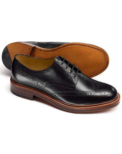 Black Fenton wingtip brogue Derby shoes