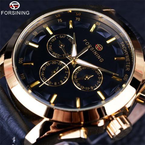 Forsining 2016 Retro Three Dial  Automatic Watch