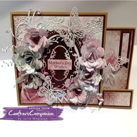 Card made using Sara Signature Shabby Chic Collection – Designed by Julie Woolston. #crafterscompanion