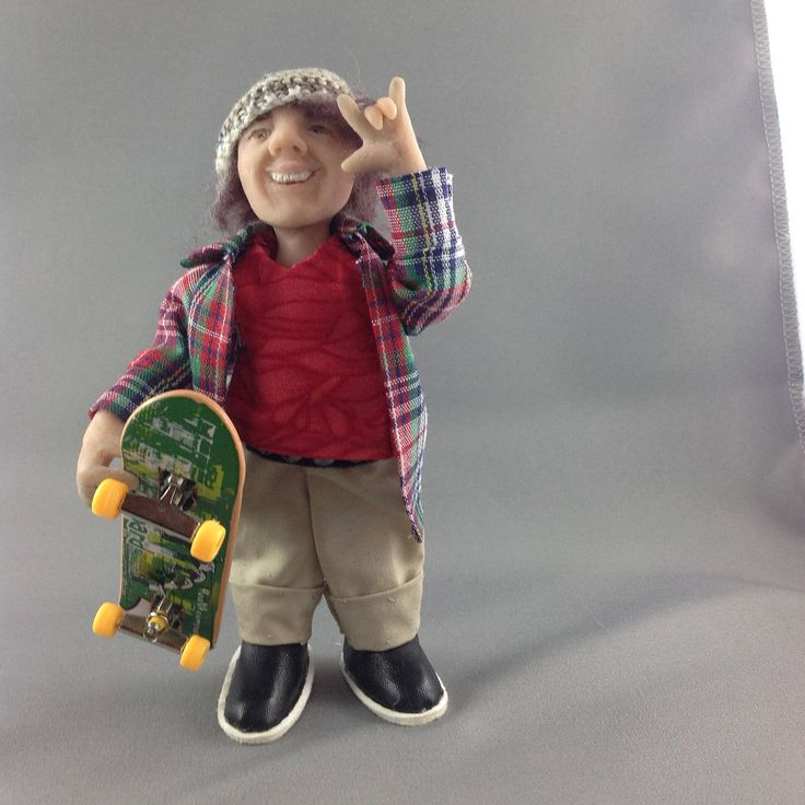 Corey 1/12 OOAK polymer clay dolls house figurine by LibbyArtCottage on Etsy
