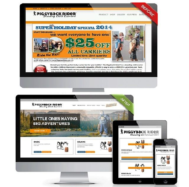 Make your website tab and smartphone friendly by making it responsive.  Get in touch for a free design mockup of your #onlinestore.