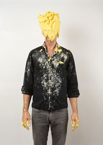 I look like this after scrambled eggs because I slam my face onto the plate and hope some lands in my mouth but I look like this someone tell me tips to avoid this!!!!!!