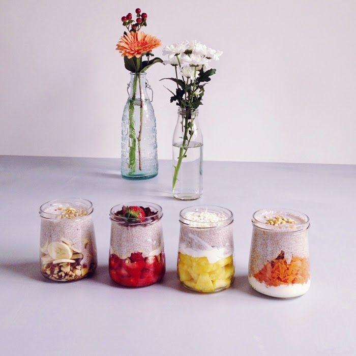 timo e basilico: Pudding ai semi di Chia bianca {in quattro gusti}