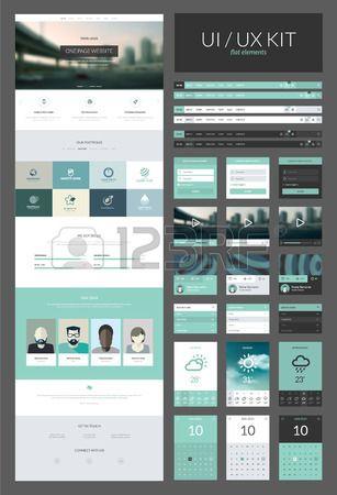 Una página web plantilla de diseño todo en uno para diseño web que incluye una…