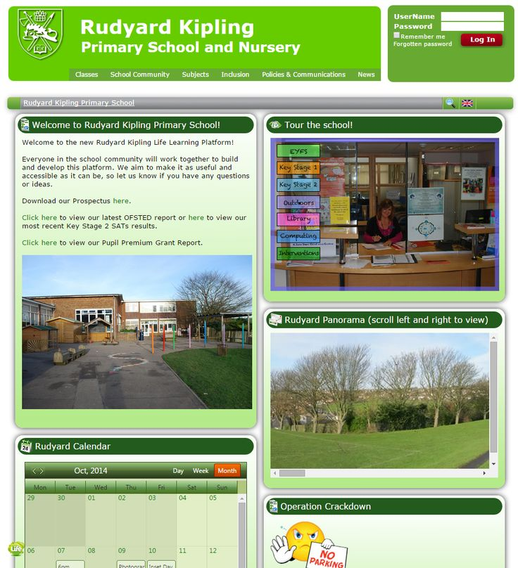 Rudyard Kipling Primary School in Brighton make great use of photos and slideshows to give visitors to their site a glimpse into school life.