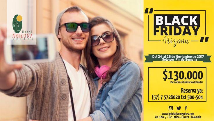 Hoy en el #BlackFriday disfruta de las mejores tarifas en alojamiento $130.000 con impuestos incluidos en Habitación Estándar. Reserva ya al 57 7 5726020 Promoción valida del 24 al 26 de #Noviembre #Cucuta #Colombia #HotelesCucuta