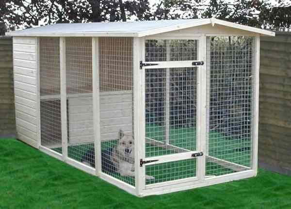 homemade outdoor dog kennels