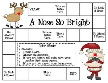 Here's a great way to practice reading color words with a Christmas theme. This game can be used for literacy centers/stations, partner games, or small group practice. An extra activity is included to assess learning. This game was created by Kathy Law for kindergarten, first grade, second grade, or anyone who needs extra practice.