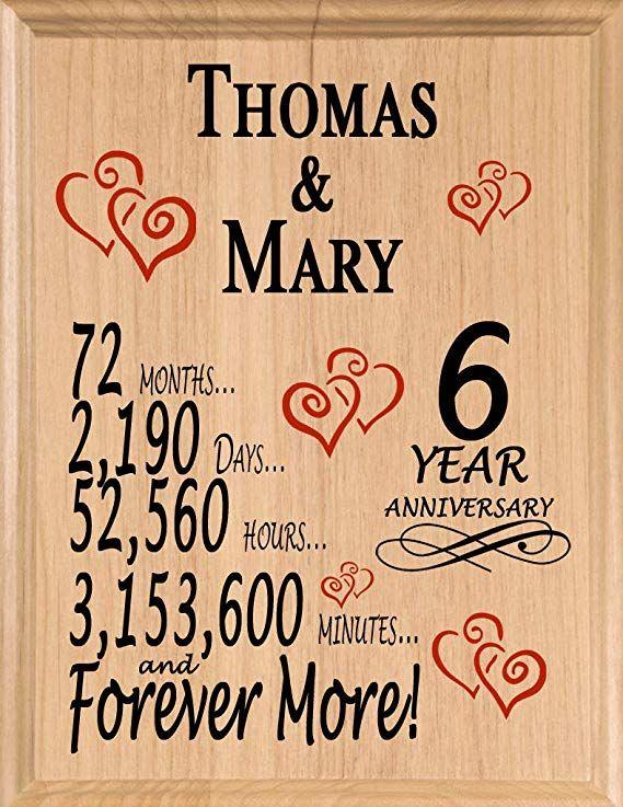 Broad Bay Personalized Anniversary Sign Wedding Anniversary Custom