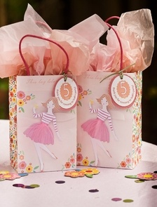Fairy Magic themed party bags   personalized   come with coordinating tissue paper