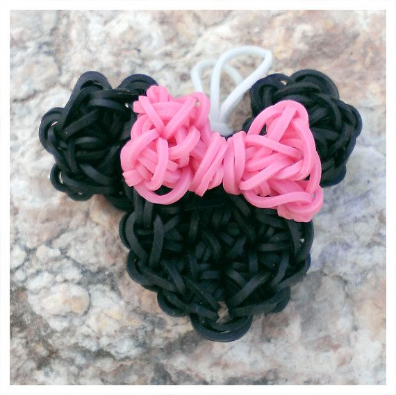 Minnie Mouse  Rainbow Loom Charm & Pendant by PrettyInPnkCreations, $3.00