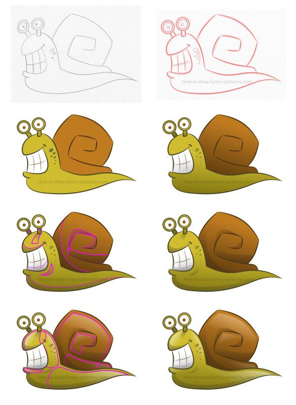 Learn how to draw a simple snail in this video tutorial filled with useful tips! https://www.youtube.com/watch?v=Euza4h4VWWY&t=4s #drawinglesson #howtodraw #cartoonsnail #snail