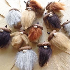 Wee little Acorn Forrest gnomes just arrived to our shop! So cute for the fall!