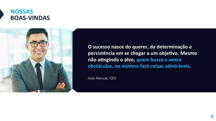 Template editável para PowerPoint - Apresentação Corporate
