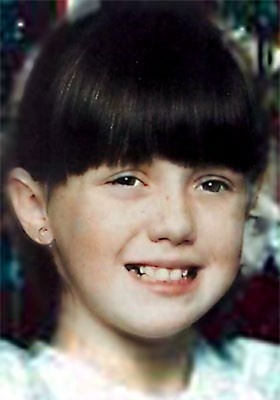 Amber Hagerman~She was the abducted and murdered child whose tragic story prompted the establishment of the Amber Alert system. She was found in a storm drain.  Killer never found