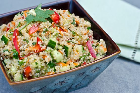 Thai Quinoa Salad with Fresh Herbs and Lime Vinaigrette (via Once Upon A Chef) - This was a really quick, very filling meal and had plenty of leftovers!  It also stays in the fridge really well for a few days.