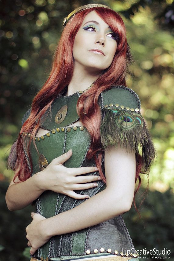 Tauriel Leather Corset by HouseWynford on Etsy