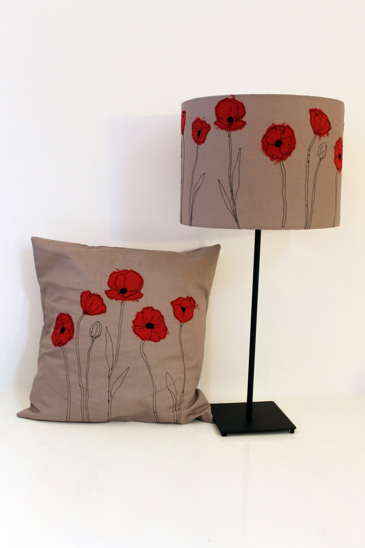 Poppy machine embroidery from Sew Over It